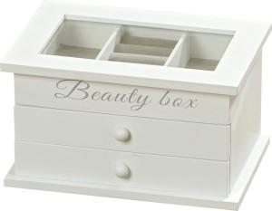 SCATOLA BEAUTY BOX LEGNO E VETRO