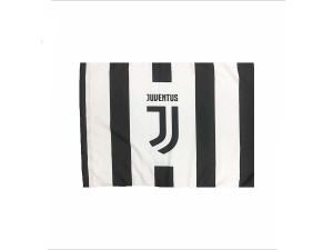 bandiera juentus 70x40 a strisce bianco e nero logo centrale